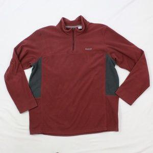 Reebok Mens Fleece Sweater 1/2 Zip Pullover